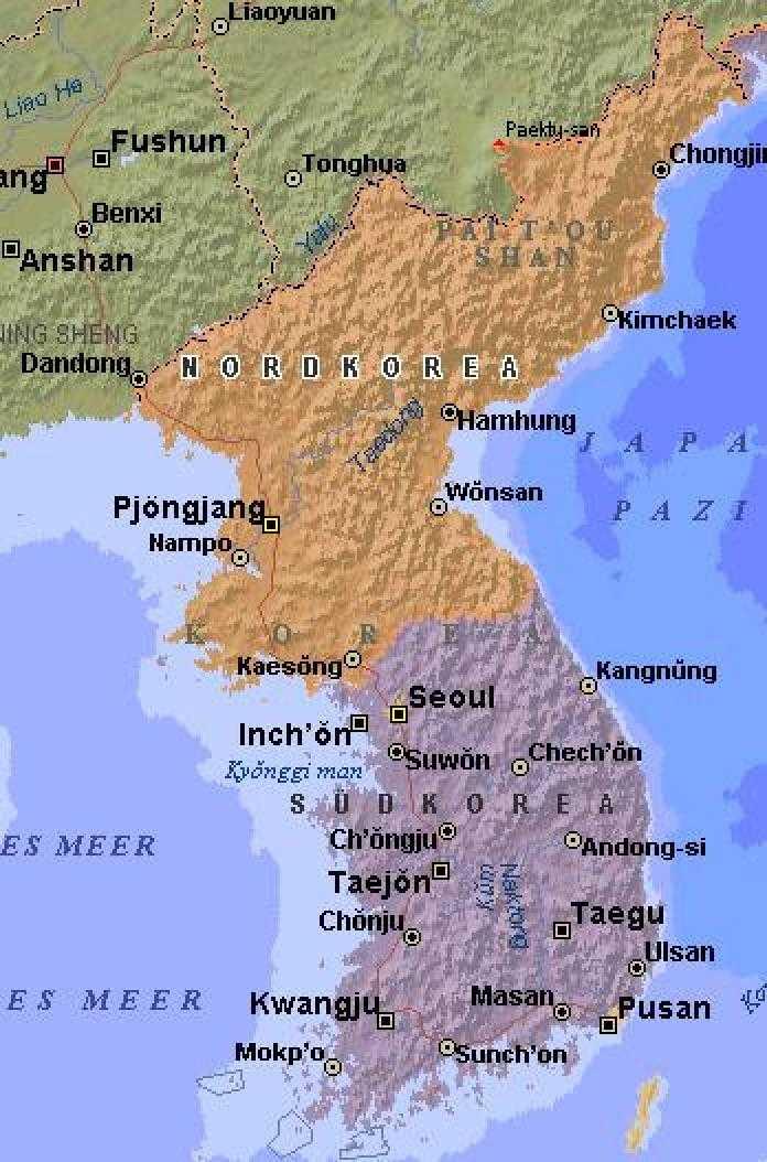 Die Grenze zwischen Nord- und Südkorea