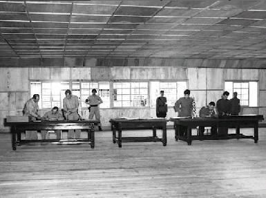 Die Unterzeichnung des Waffenstillstandsabkommen am  21. Juli 1953